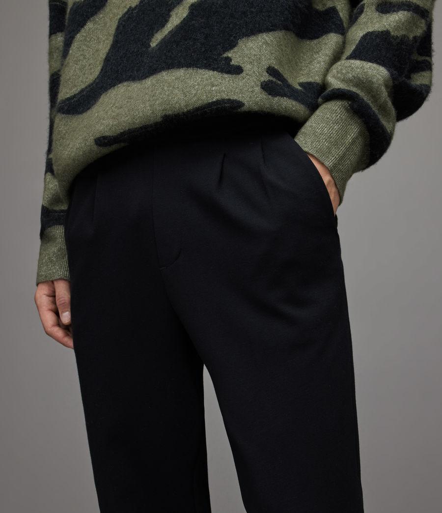 Herren Rein Cropped Slim Trousers (black) - Image 3