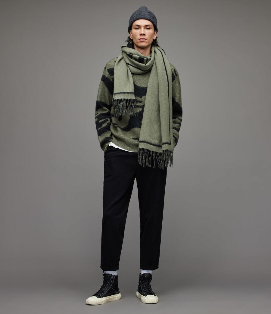 Herren Rein Cropped Slim Trousers (black) - Image 4