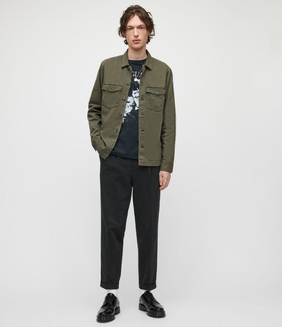 Herren Rein Cropped Slim Trousers (charcoal) - Image 1