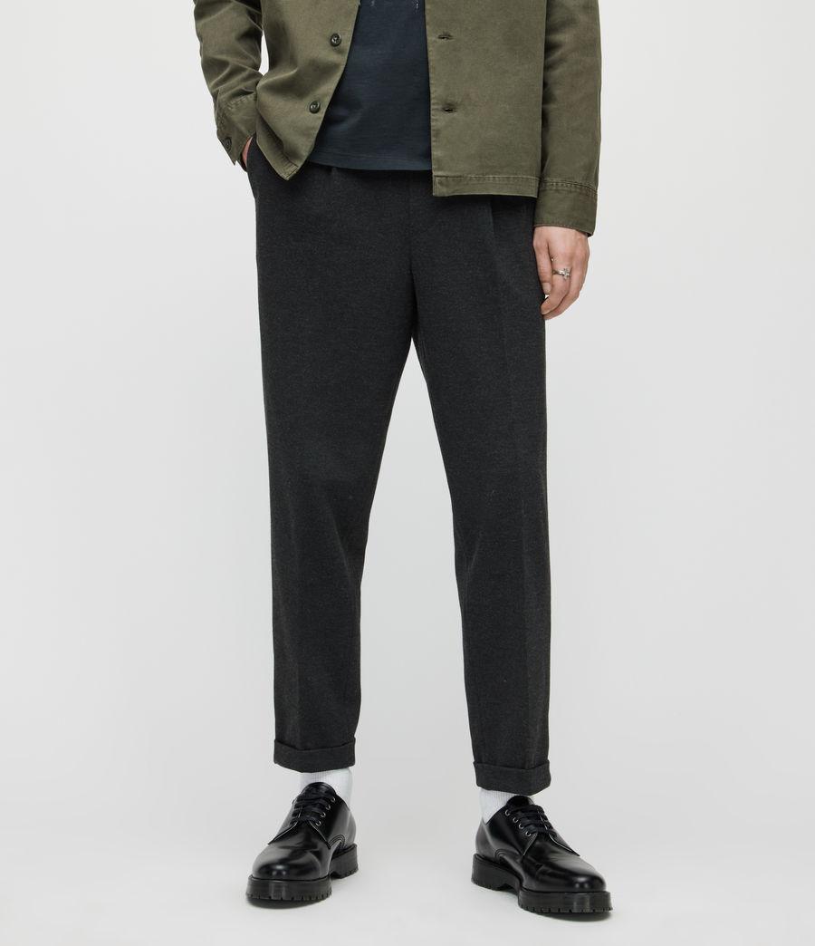 Herren Rein Cropped Slim Trousers (charcoal) - Image 2