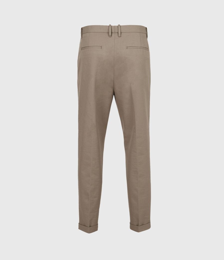 Mens Tallis Cropped Slim Pants (stone_grey) - Image 3