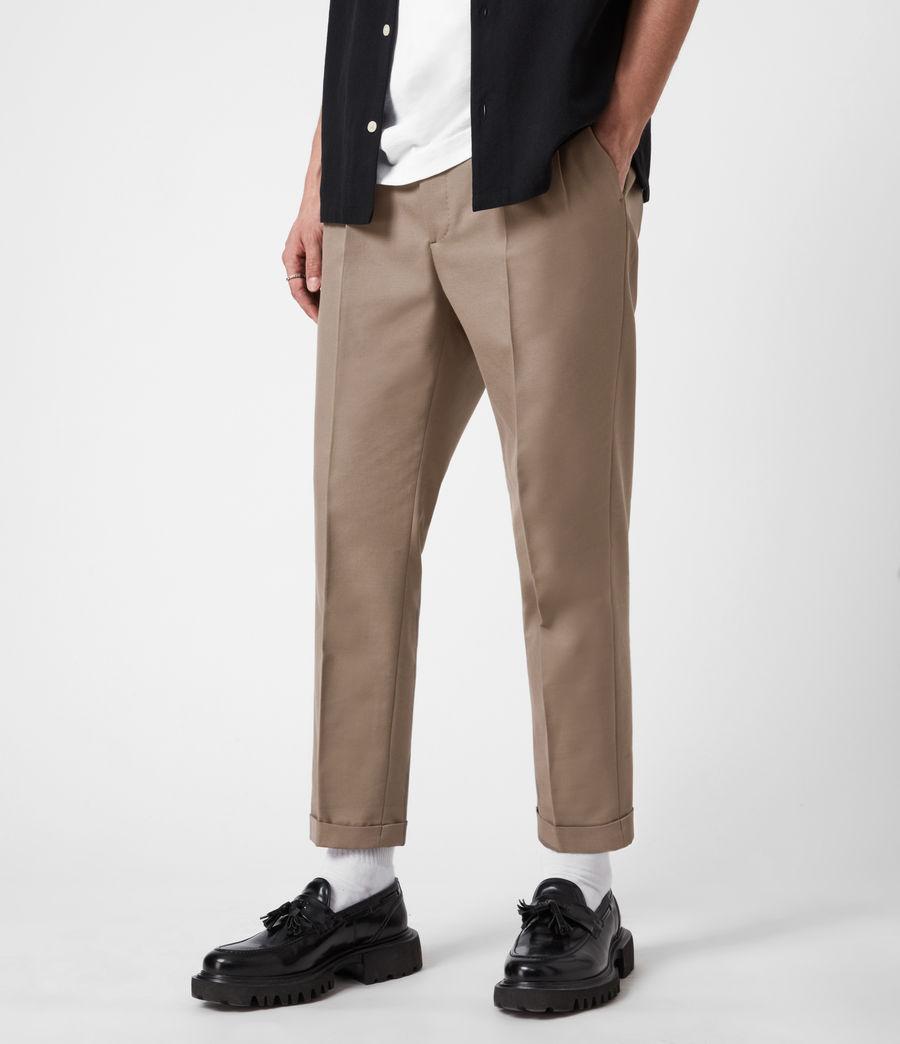 Mens Tallis Cropped Slim Pants (stone_grey) - Image 4