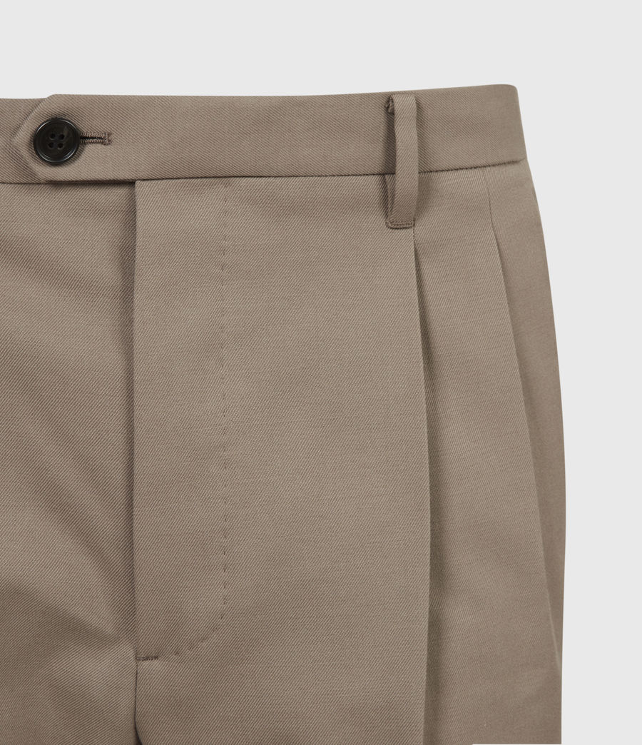 Mens Tallis Cropped Slim Pants (stone_grey) - Image 5