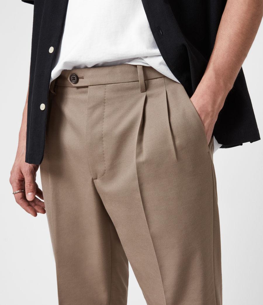Mens Tallis Cropped Slim Pants (stone_grey) - Image 6