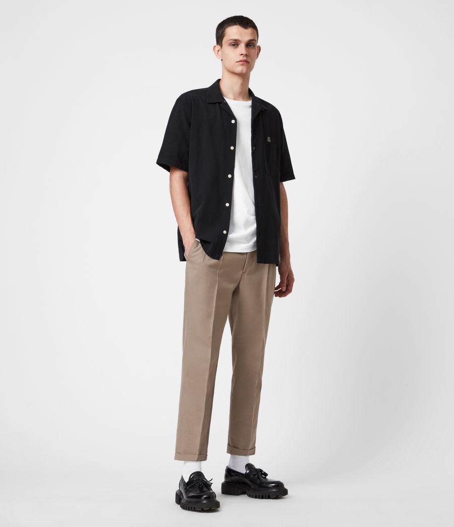 Mens Tallis Cropped Slim Pants (stone_grey) - Image 7