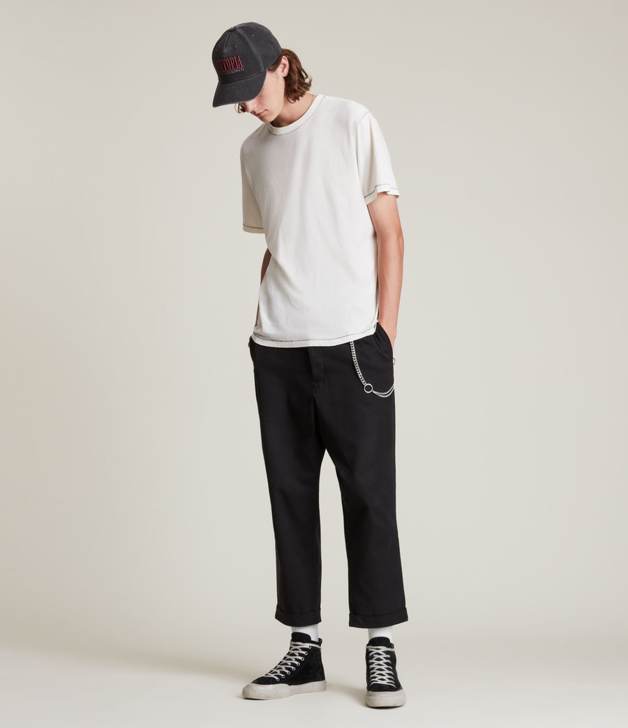 Men's Crate Cropped Straight Trousers (black) - Image 1