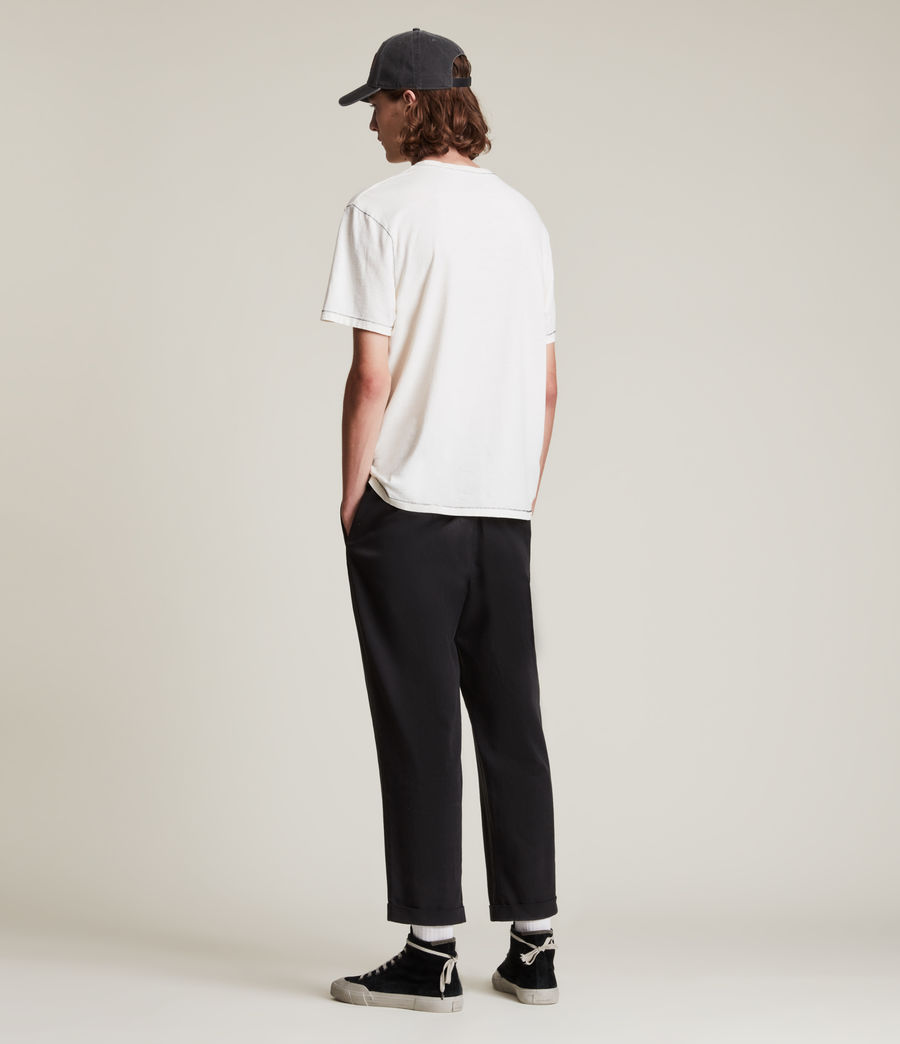 Men's Crate Cropped Straight Trousers (black) - Image 5