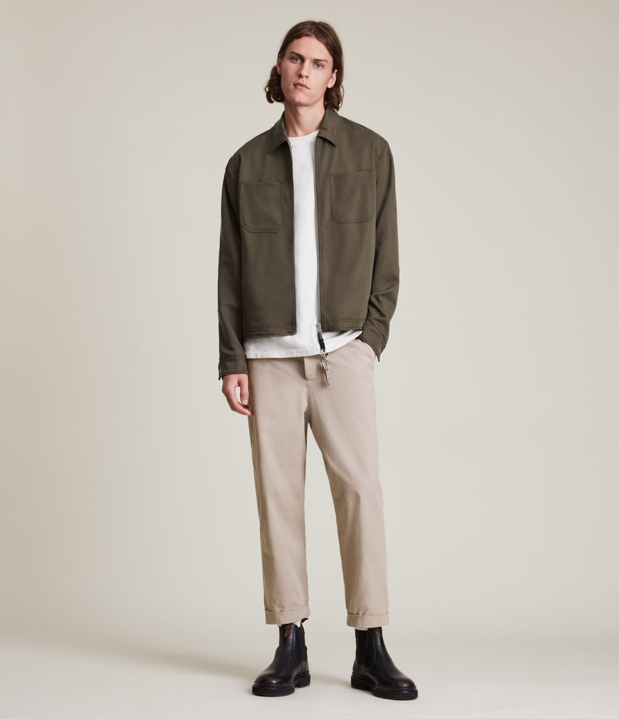 Men's Crate Cropped Straight Trousers (pier_grey) - Image 1