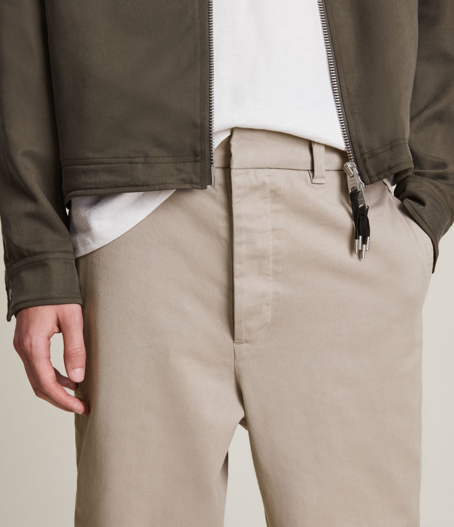 Men's Crate Cropped Straight Trousers (pier_grey) - Image 3