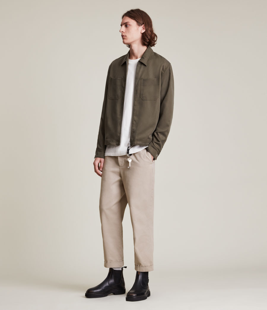 Men's Crate Cropped Straight Trousers (pier_grey) - Image 4