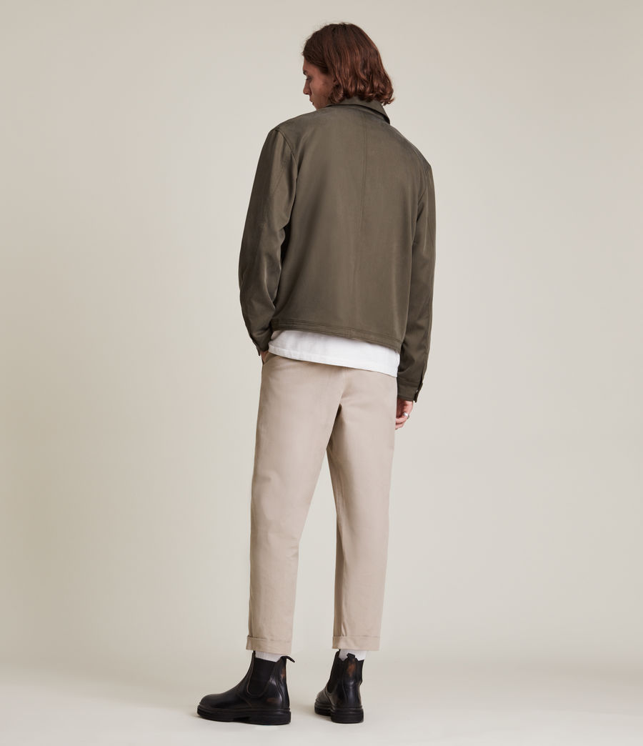 Men's Crate Cropped Straight Trousers (pier_grey) - Image 5