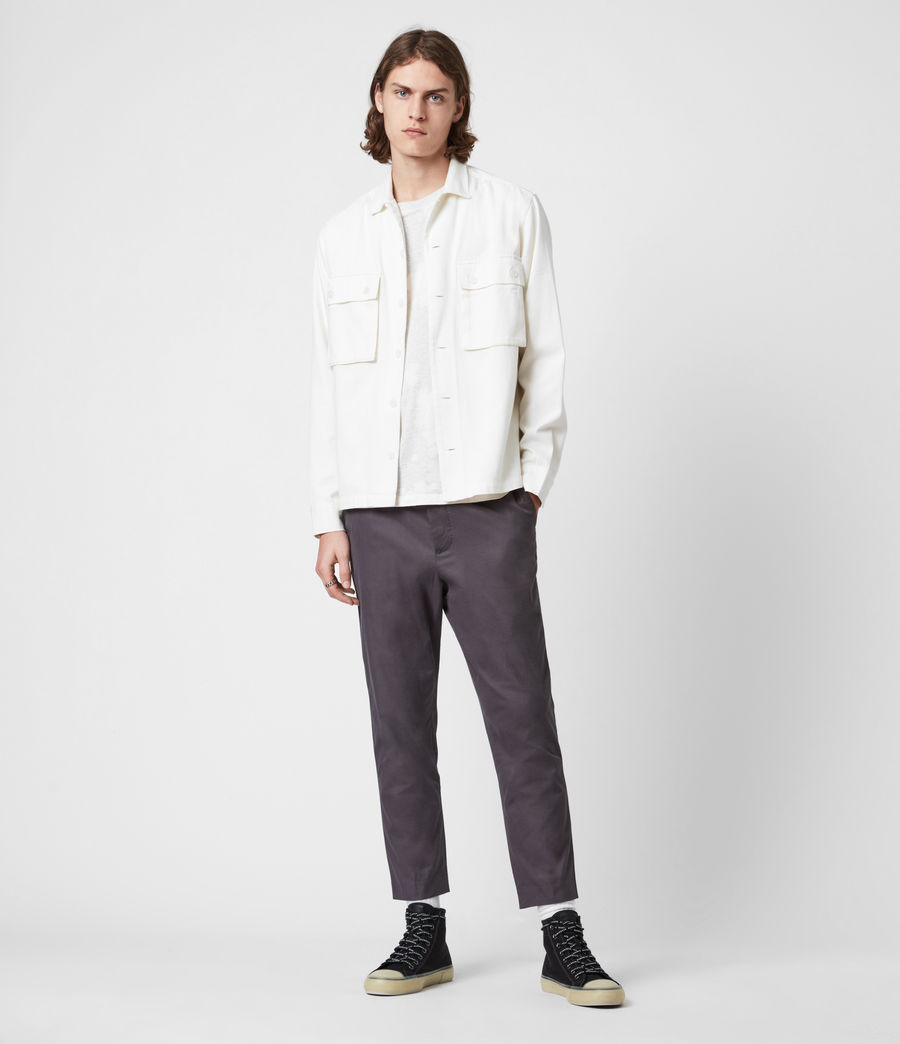 Hommes Kato Cropped Slim Trousers (soot_grey) - Image 1