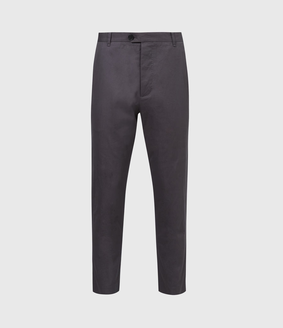 Hommes Kato Cropped Slim Trousers (soot_grey) - Image 2