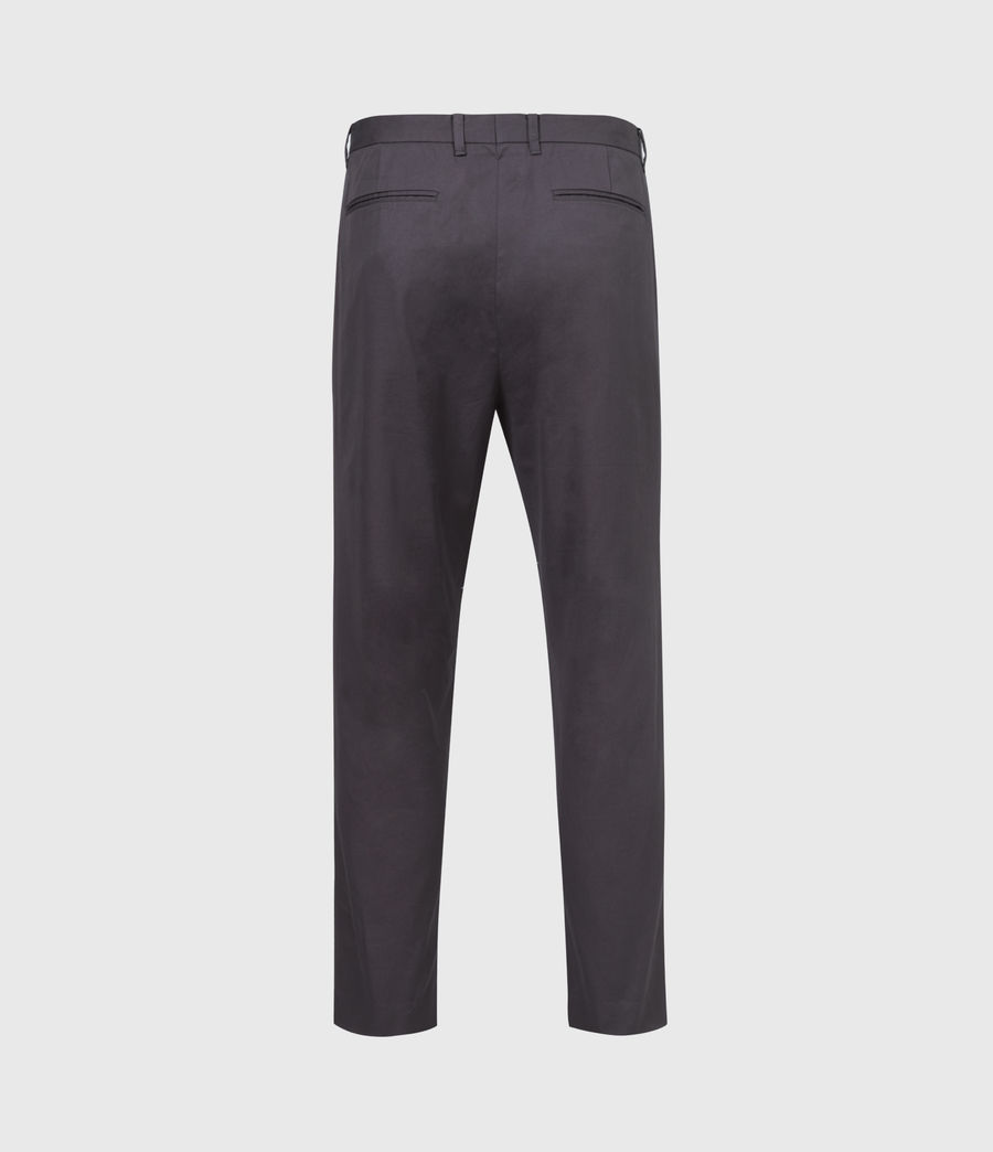 Hommes Kato Cropped Slim Trousers (soot_grey) - Image 3
