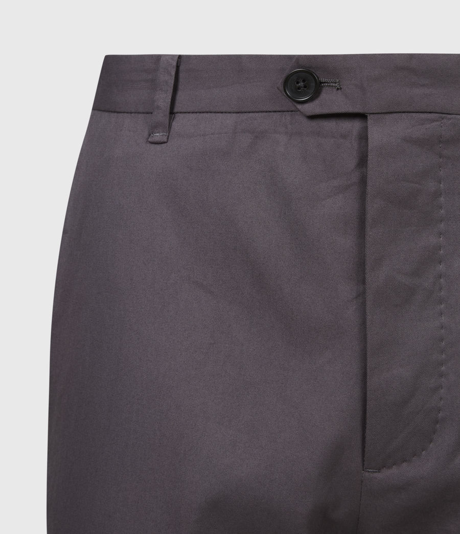 Hommes Kato Cropped Slim Trousers (soot_grey) - Image 5