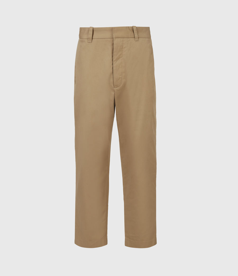 Men's Cart Cropped Straight Trousers (sand) - Image 2