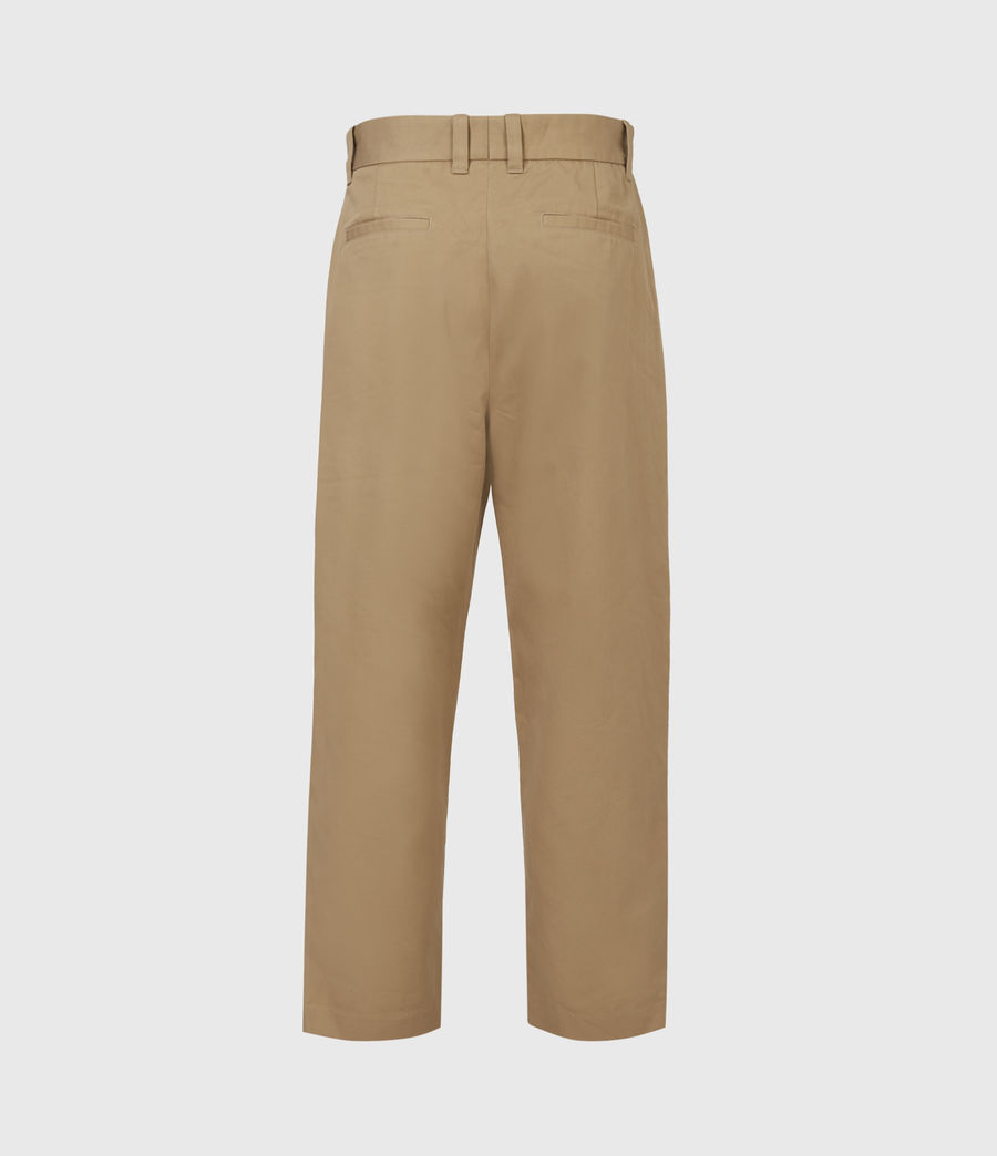 Men's Cart Cropped Straight Trousers (sand) - Image 3