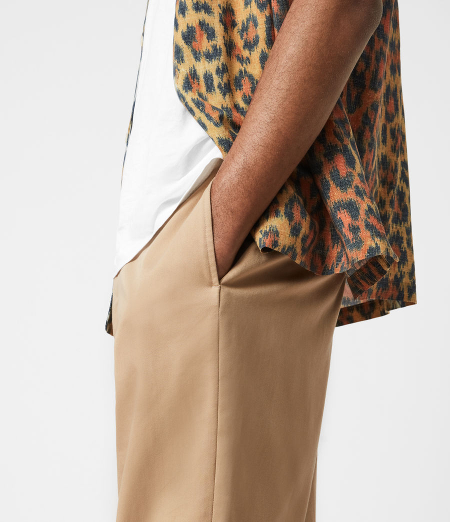 Men's Cart Cropped Straight Trousers (sand) - Image 4
