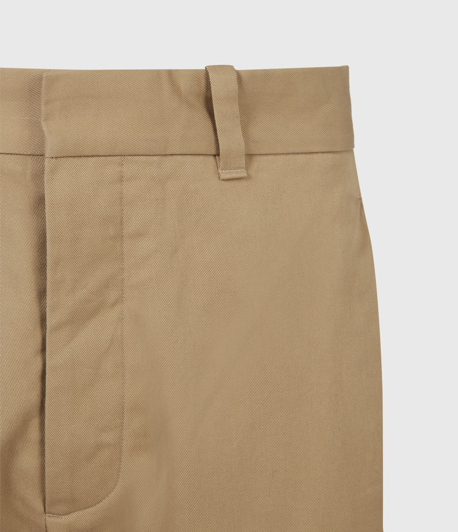 Men's Cart Cropped Straight Trousers (sand) - Image 5