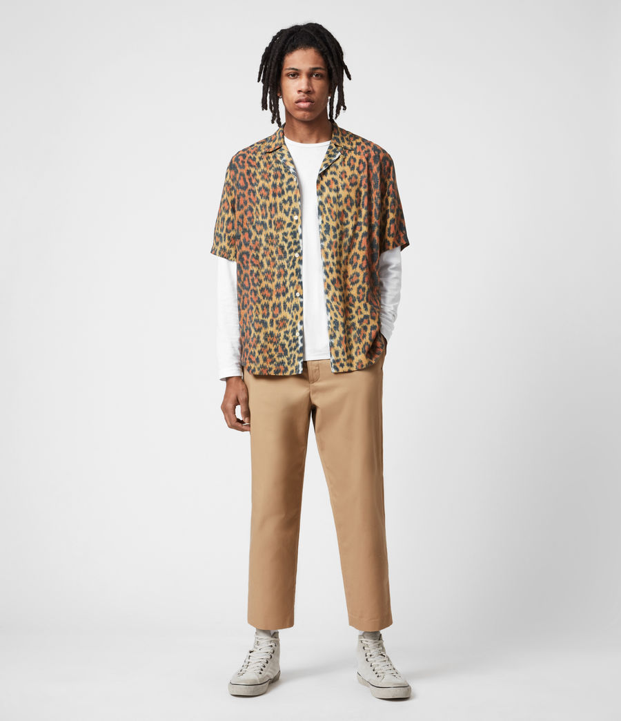 Men's Cart Cropped Straight Trousers (sand) - Image 6