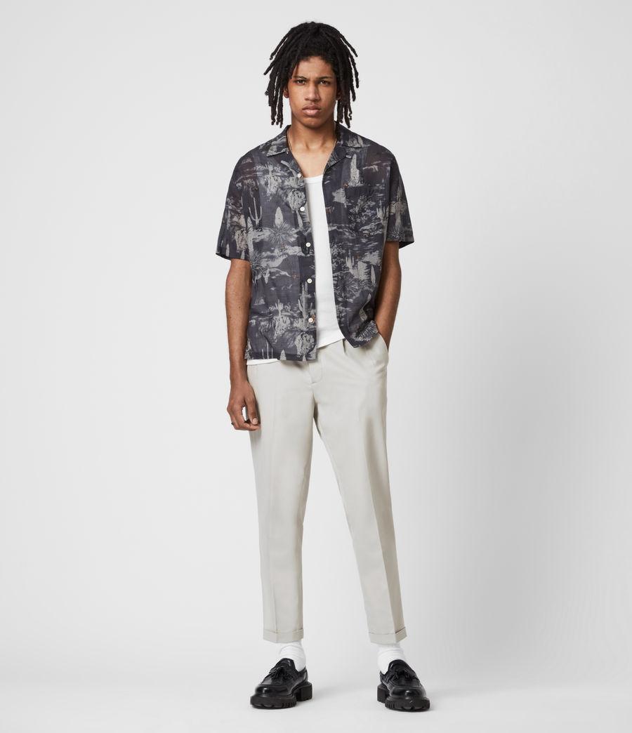 Men's Tallis Cropped Slim Trousers (parisian_grey) - Image 1
