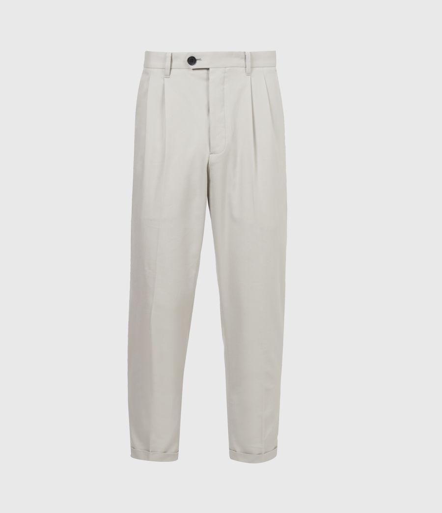 Men's Tallis Cropped Slim Trousers (parisian_grey) - Image 2