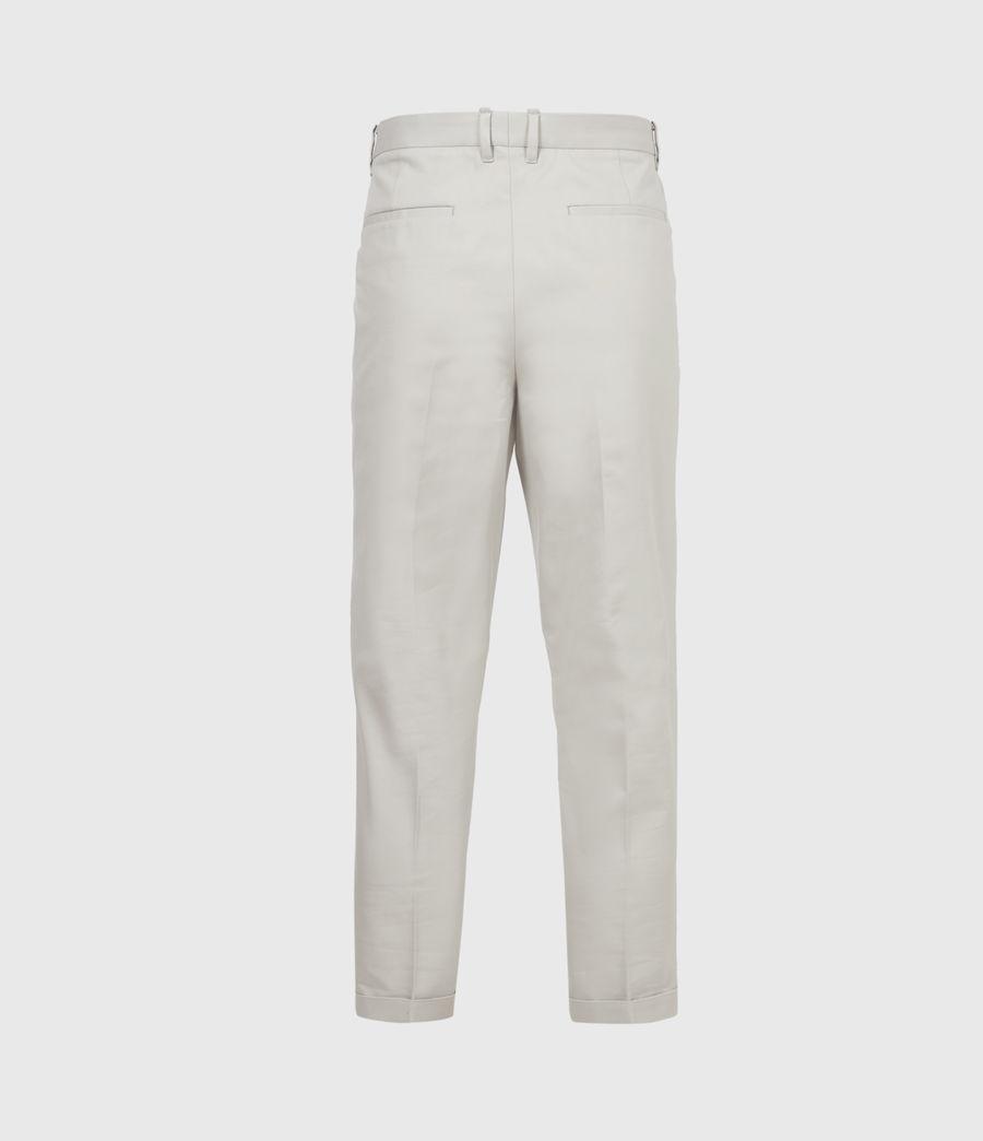 Men's Tallis Cropped Slim Trousers (parisian_grey) - Image 3