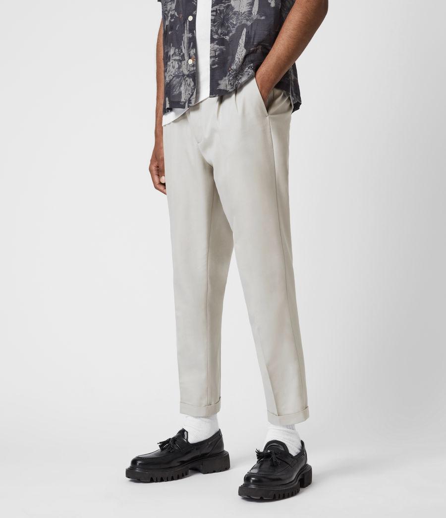 Men's Tallis Cropped Slim Trousers (parisian_grey) - Image 4