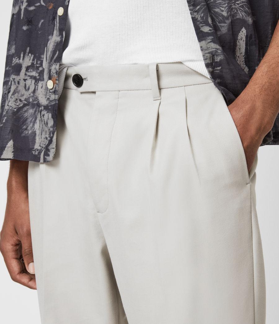 Men's Tallis Cropped Slim Trousers (parisian_grey) - Image 5