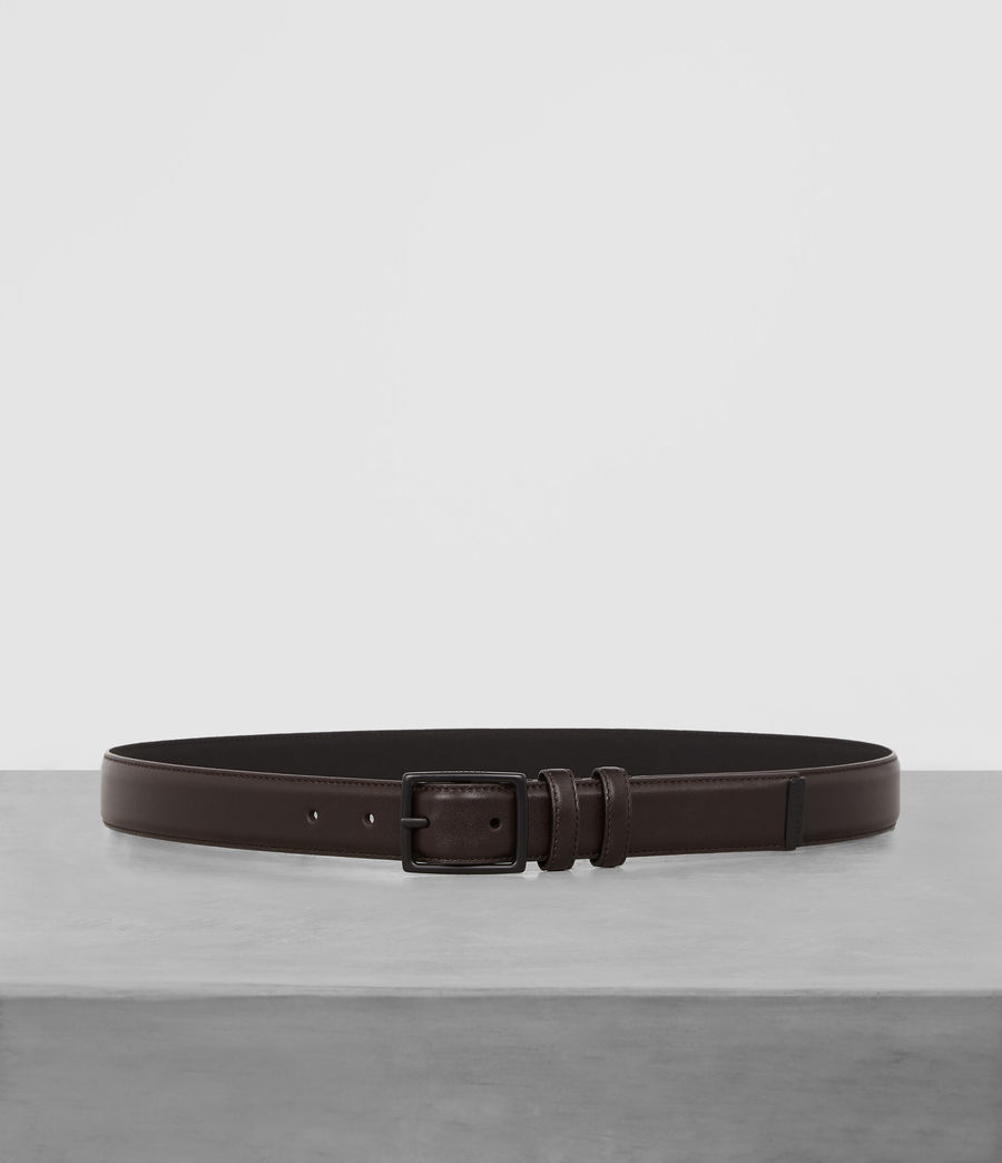 Mens Ives Leather Belt (bitter_brown) - Image 1