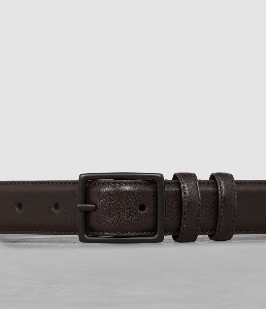 Mens Ives Leather Belt (bitter_brown) - Image 2