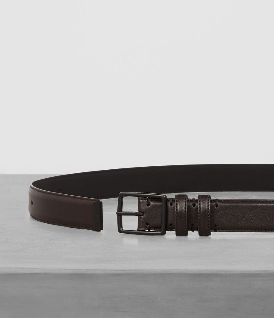 Mens Ives Leather Belt (bitter_brown) - Image 3
