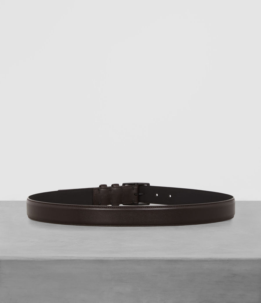 Mens Ives Leather Belt (bitter_brown) - Image 4