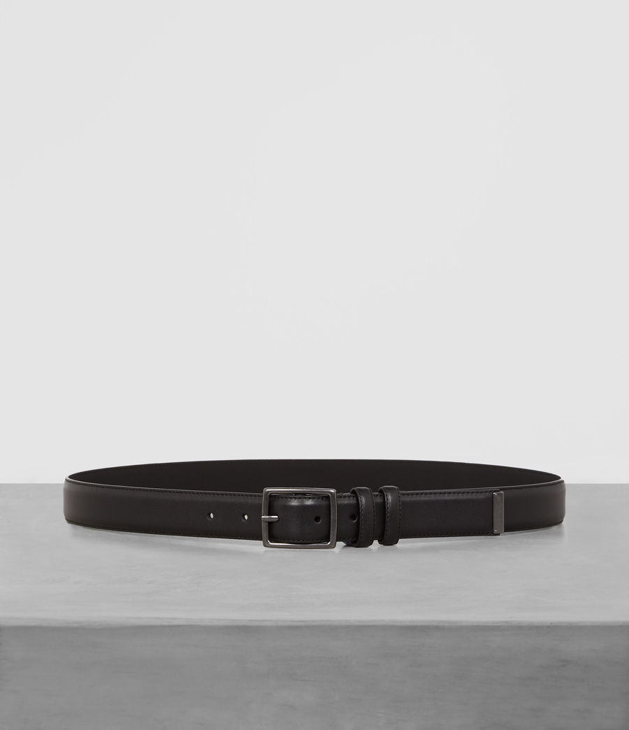 Men's Ives Leather Belt (black) - Image 1