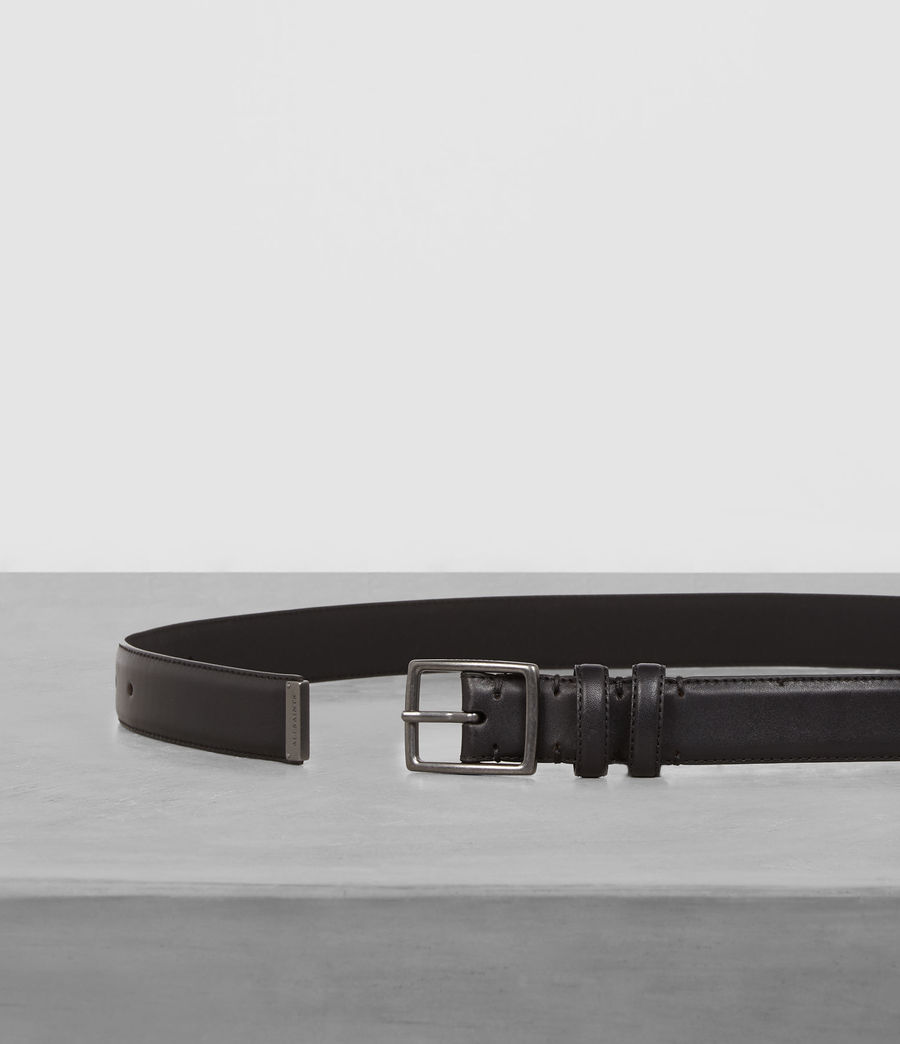 Men's Ives Leather Belt (black) - Image 3