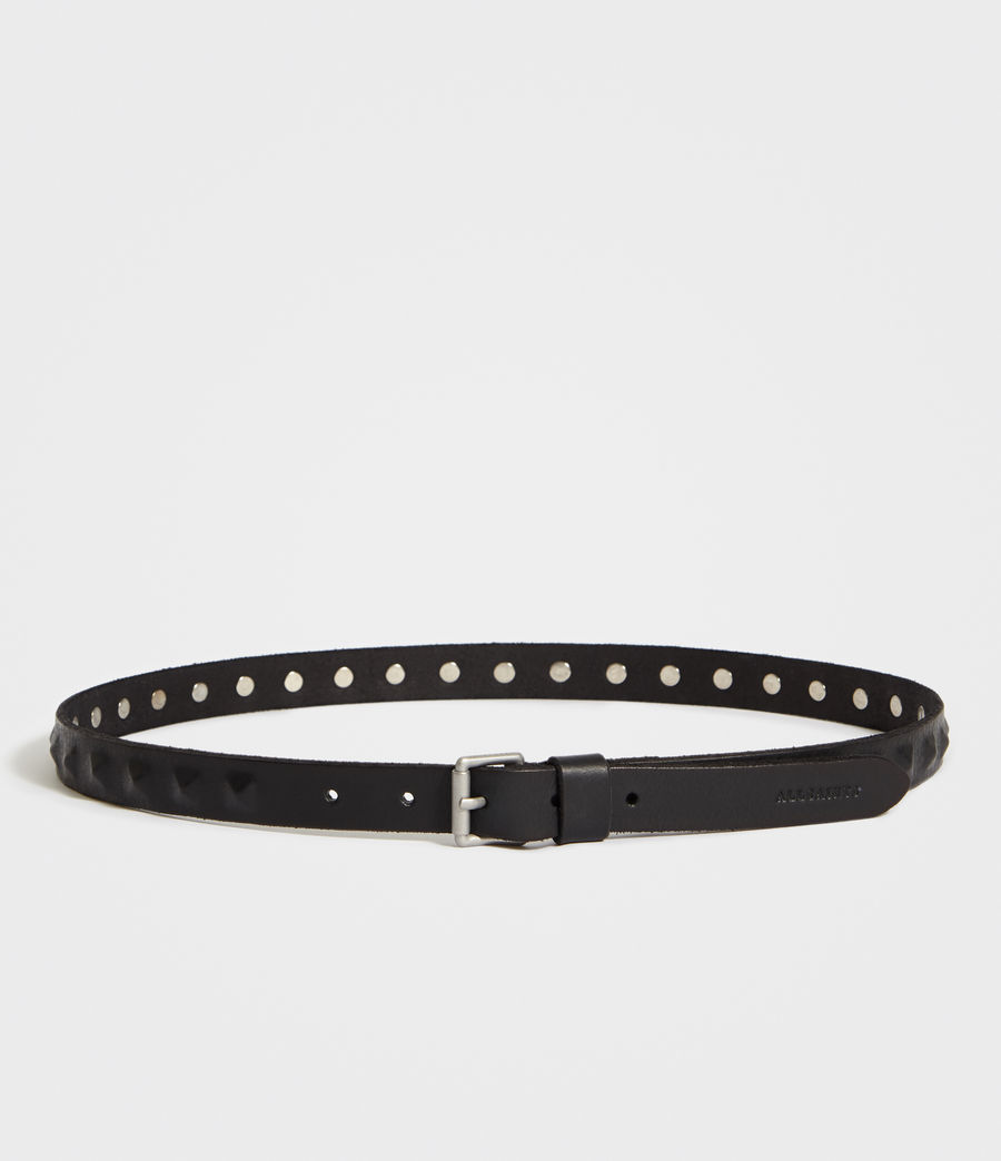 Mens Prism Leather Belt (black) - Image 4