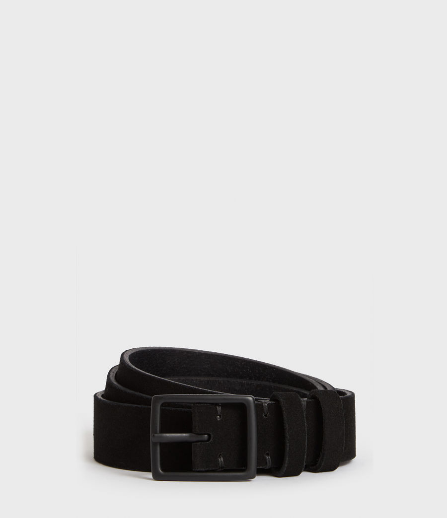Men's Ives Suede Belt (jet_black) - Image 1