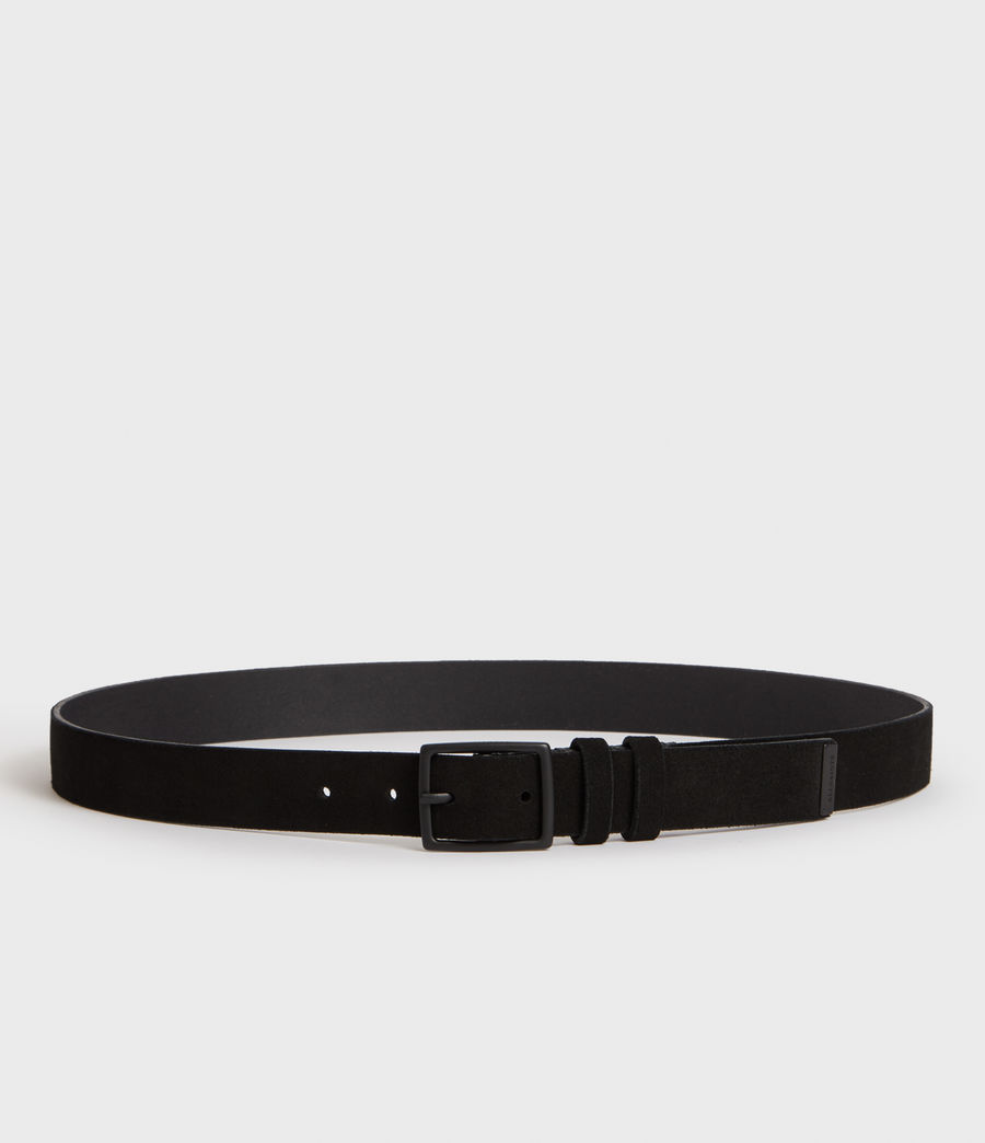 Men's Ives Suede Belt (jet_black) - Image 3