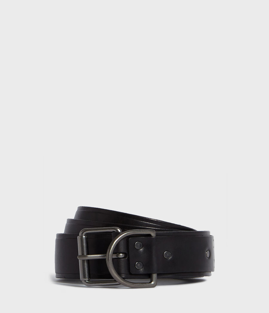 Mens Kit Leather Belt (black) - Image 1