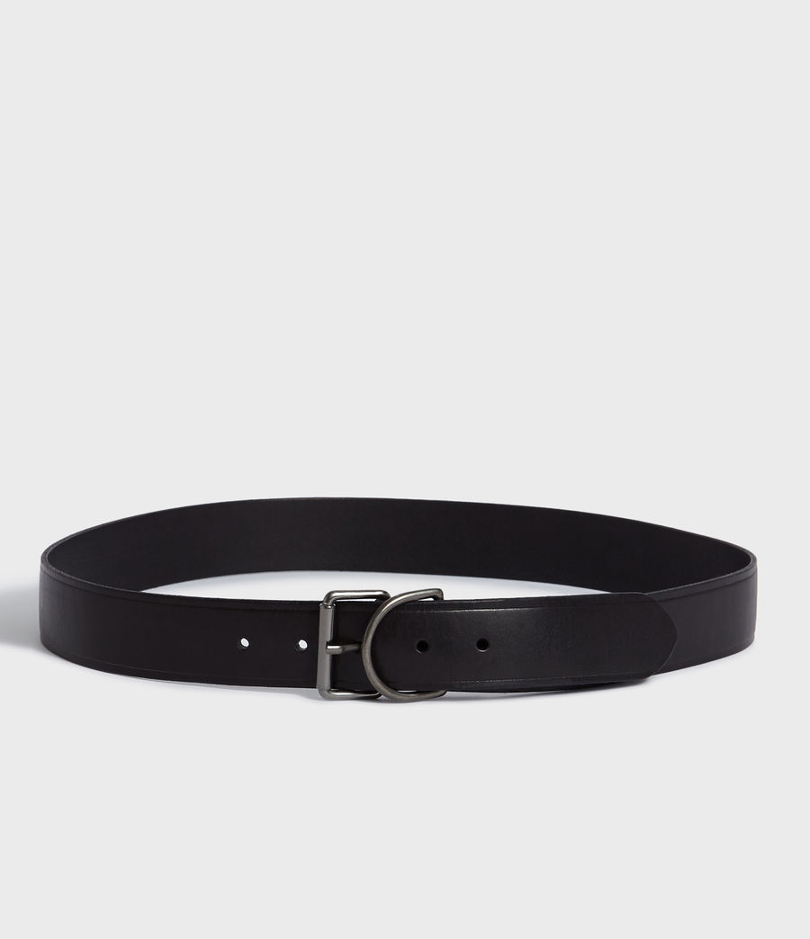 Mens Kit Leather Belt (black) - Image 4