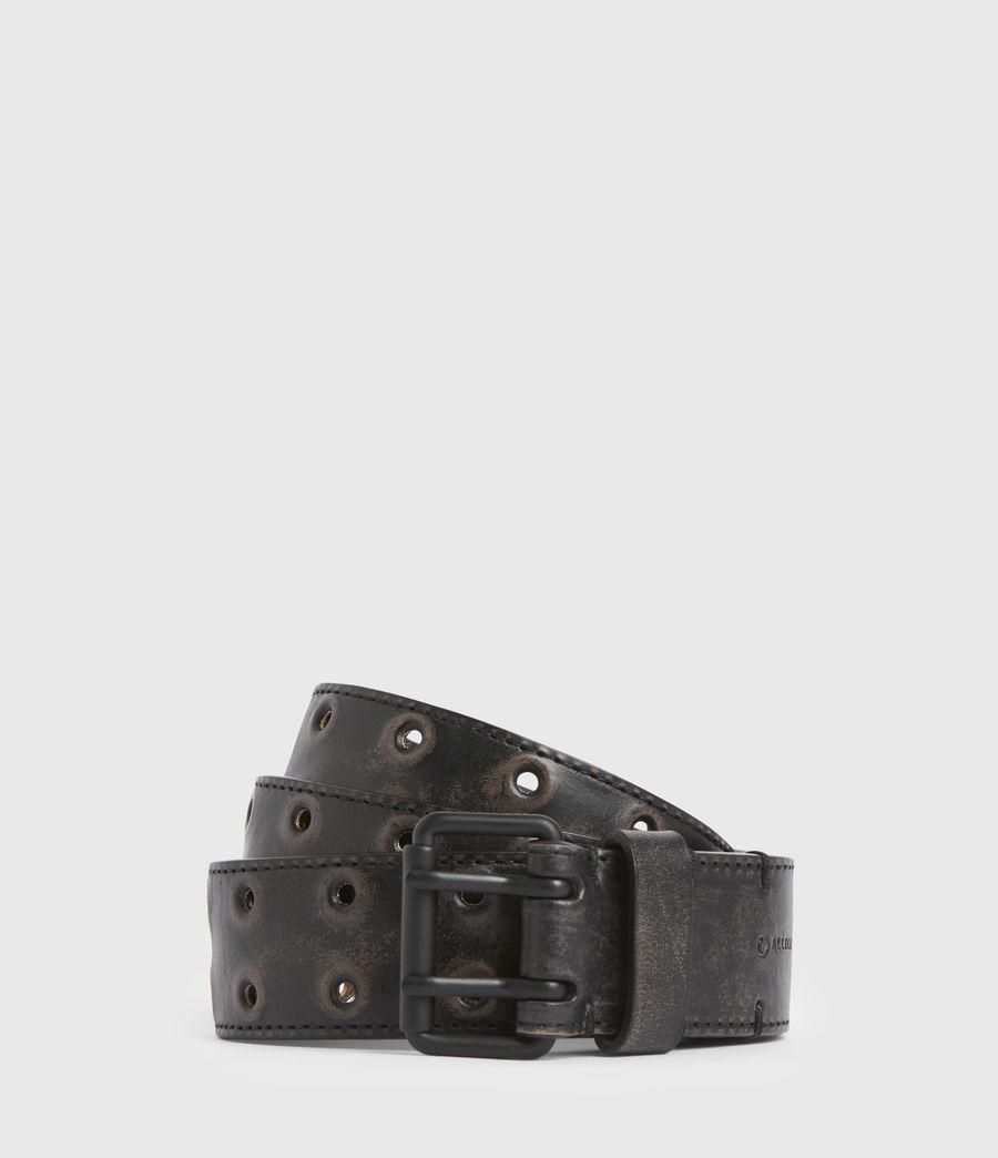 Men's Lincoln Leather Belt (black) - Image 1