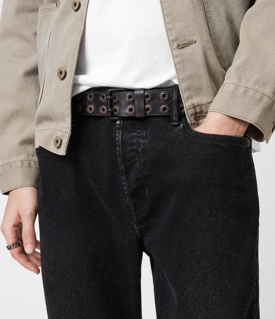 Men's Lincoln Leather Belt (black) - Image 2