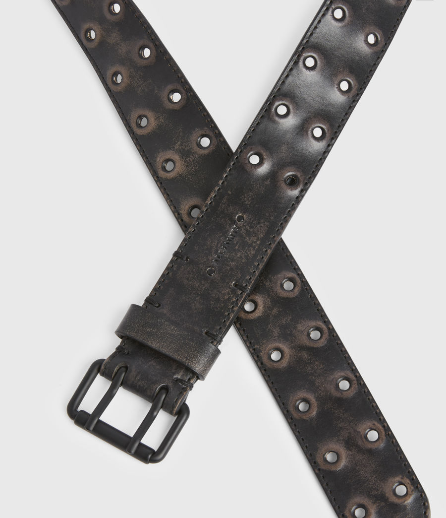 Men's Lincoln Leather Belt (black) - Image 4