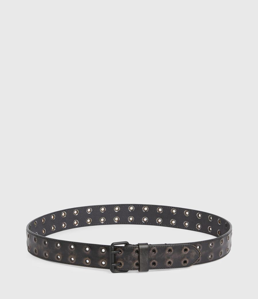 Men's Lincoln Leather Belt (black) - Image 5