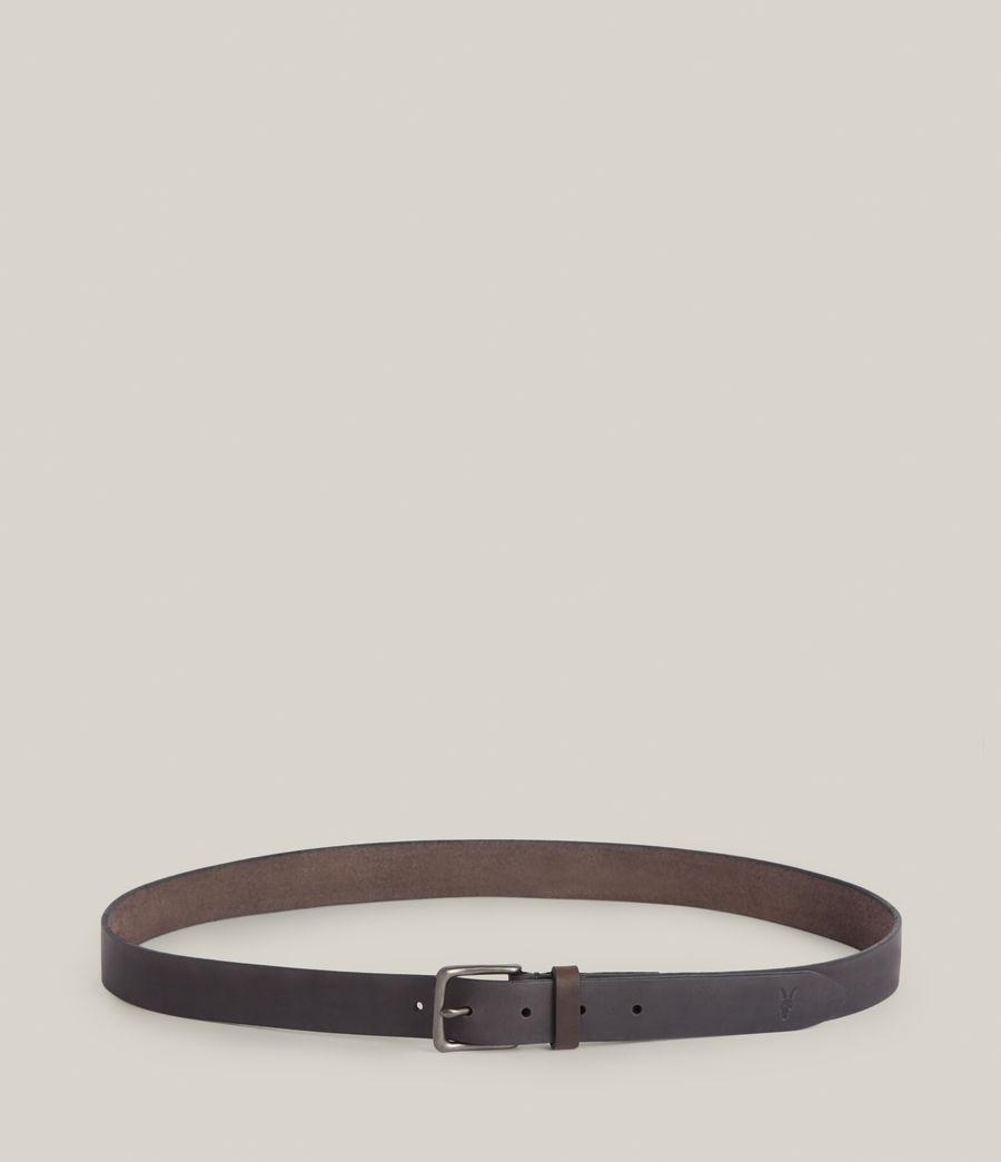 Men's Luca Leather Belt (black) - Image 4