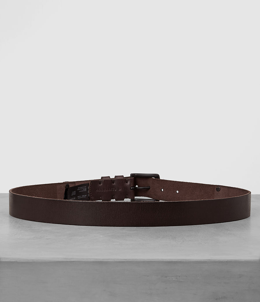 Men's Slim Annex Leather Belt (bitter_brown) - Image 4