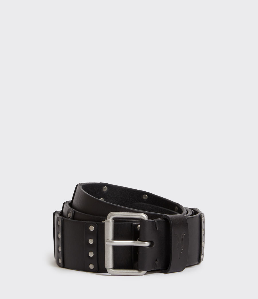 Mens Limit Leather Belt (black) - Image 1