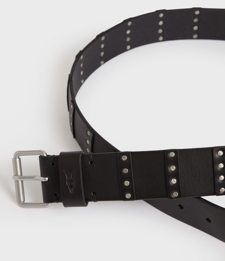 Mens Limit Leather Belt (black) - Image 2