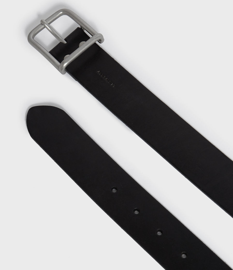 Mens Zain Leather Belt (black) - Image 4