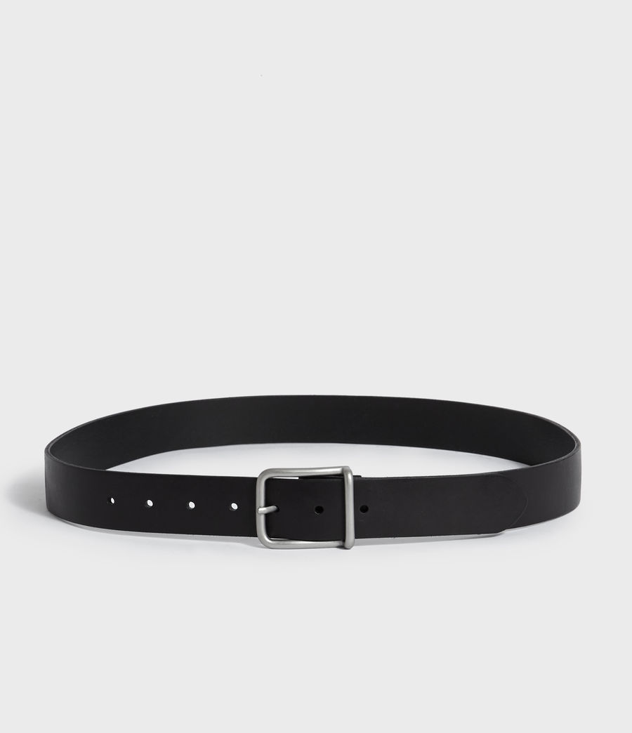Mens Zain Leather Belt (black) - Image 5